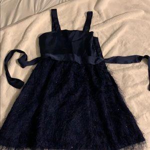 GAP kids girls matching blue fringe dresses 10, 12